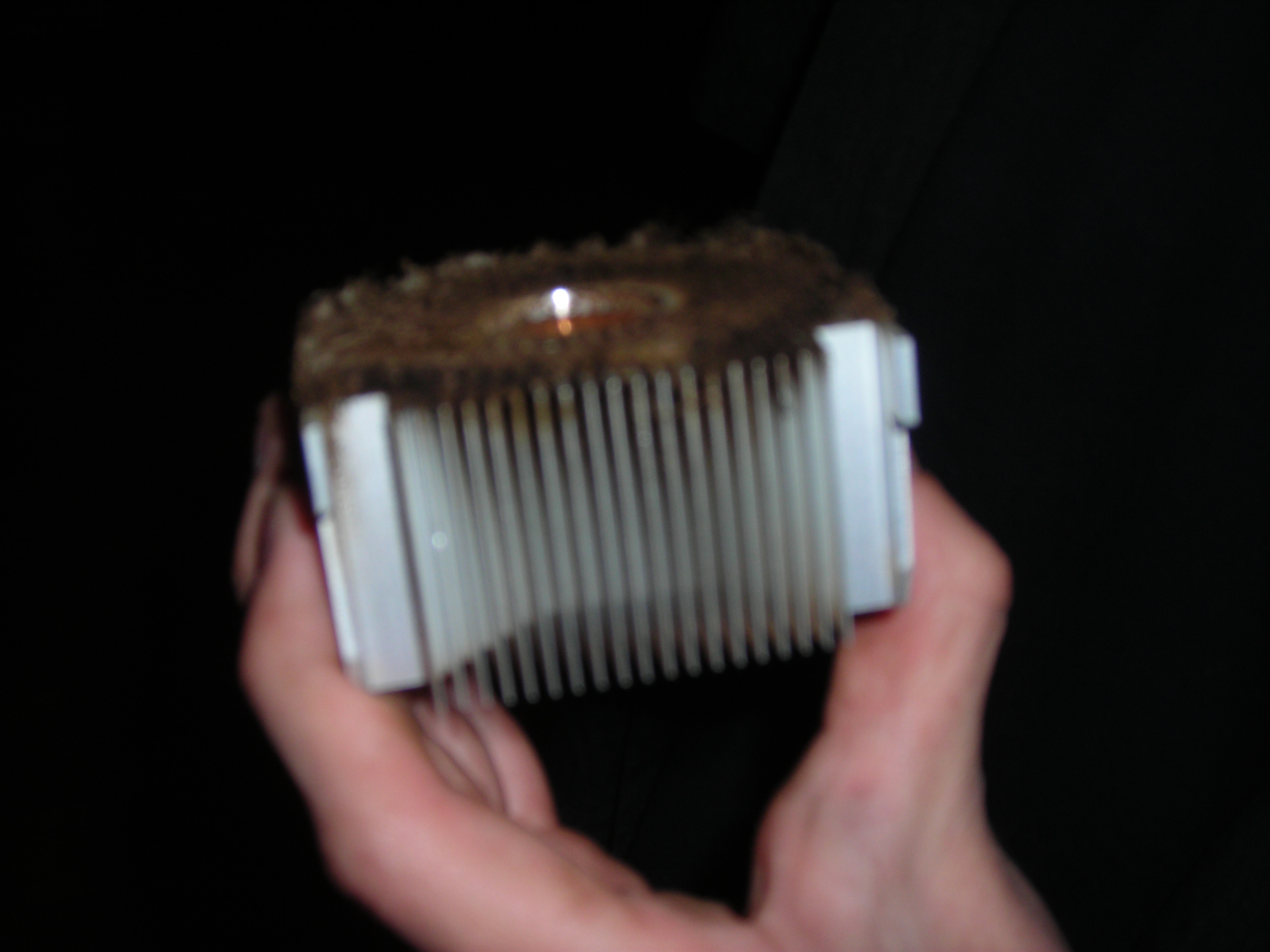 Cigarette gunk clogging heatsink #1