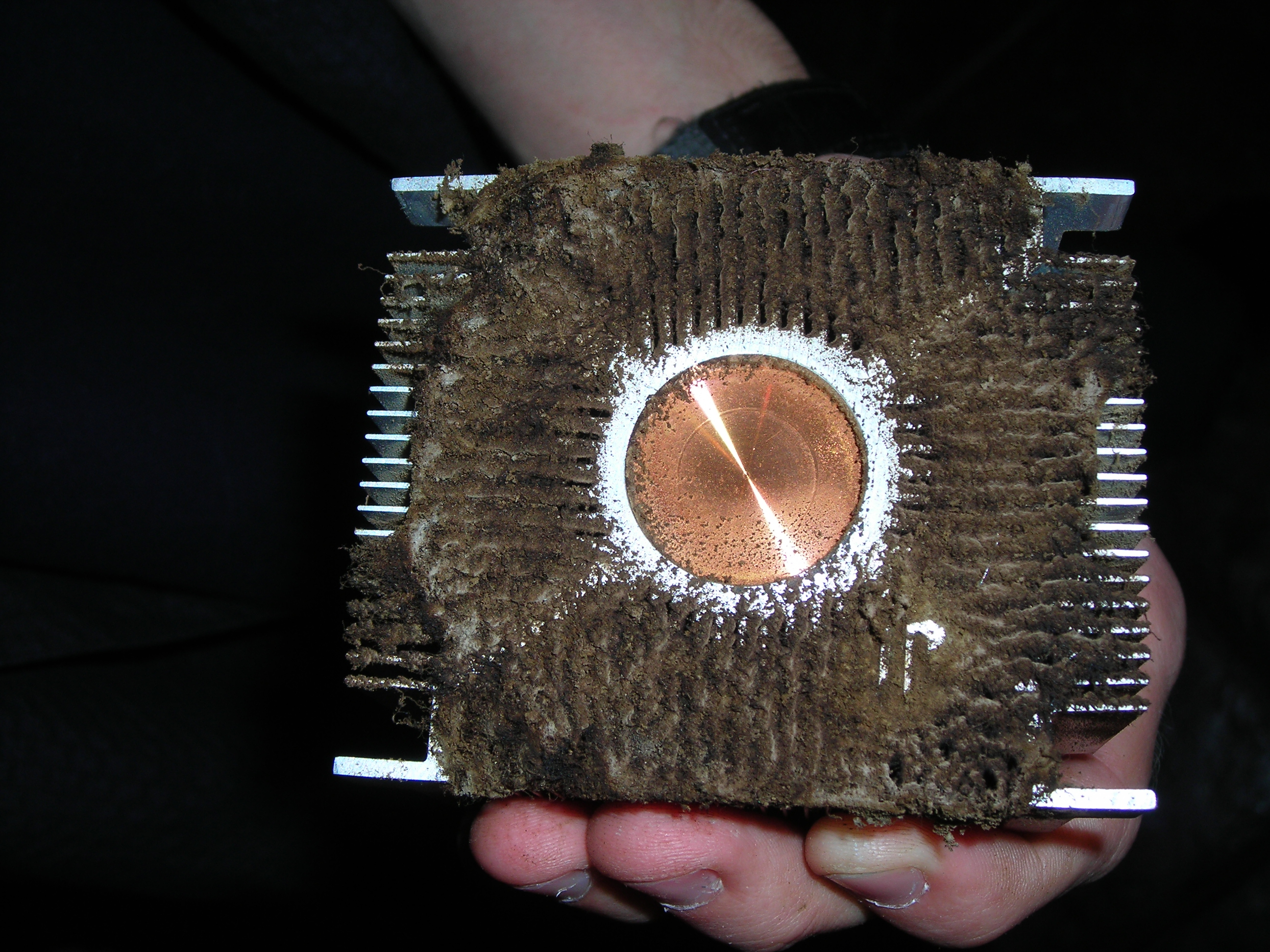Cigarette gunk clogging heatsink #2